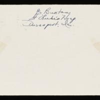 1946-01-16 Evelyn Burton to Carroll Steinbeck - Envelope back