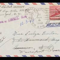 1945-12-03 Carroll Steinbeck to Evelyn Burton - Envelope