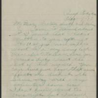1918-08-07 Thomas Messenger to Mrs. Ress Wade Page 1