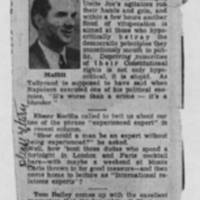 "1950-02-19 Burlington Hawkeye Gazette Article: ""Smorgasbord"""