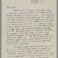 1942-06-25 Joseph Evans to John Evans Page 1