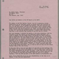 1981-02-25 Virginia Harper to Mr. Walter Smith