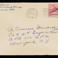 1945-11-09 Evelyn Burton to Carroll Steinbeck - Envelope