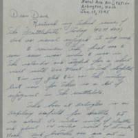1945-01-18 Eddie Nardy to Dave Elder Page 1