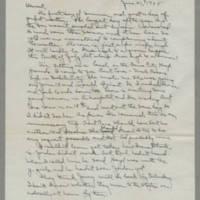 1945-06-21 Laura Davis to Lloyd Davis Page 1