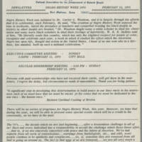 1970-02-12 Newsletter, Fort Madison Branch of the NAACP Page 1