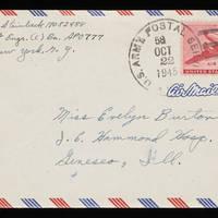 1945-10-21 Carroll Steinbeck to Evelyn Burton - Envelope