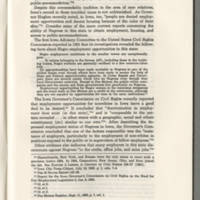 """Iowa Law Review, """"State Civil Rights Statute: Some Proposals"""" Page 1075"""
