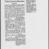 "1971-08-05 Des Moines Register Article: """"U of I Student Cleared on Felony Count in Disorders"""""