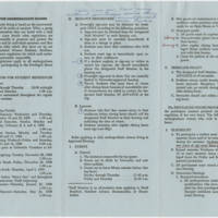 """1968-09-18 Statistics and """"""""Blue Book: Regulations For Undergraduate Women"""""""" Page 6"""