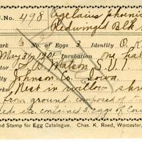 Samuel B. Matson, egg card # 009