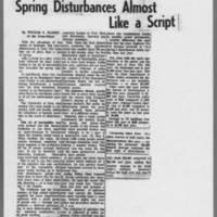 """1972-05-25 Iowa City Press-Citizen Article: """"""""Spring Disturbances Almost Like a Script"""""""""""