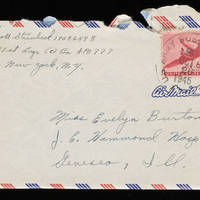 1945-10-25 Carroll Steinbeck to Evelyn Burton - Envelope