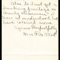 1918-08-08 Mrs. F.M. West to Mrs. Francis E. Whitley Page 2