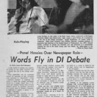 "1971-04-10 Daily Iowan Article: ""Words Fly in DI Debate"""