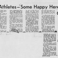 "1968-12-17 Daily Iowan Article: ""UI's Black Athletes -- Some Happy Here, Others Not"" Page 1"
