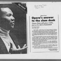 "1985-05-31 """"Simon Estes: Opera's answer to the slam dunk"""" Page 1"