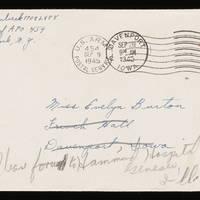 1945-09-08 Carroll Steinbeck to Evelyn Burton - Envelope