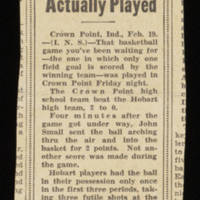 Clipping: 'Dream Game Actually Played'
