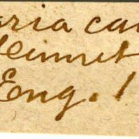 Clinton Mellen Jones, egg card # 478