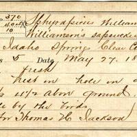 Thomas H Jackson, egg card # thj003u