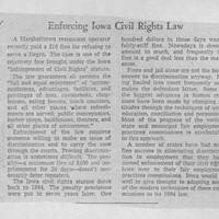 "1955-12-11 Des Moines Register Article: ""Enforcing Iowa Civil Rights Law"""