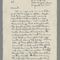 1942-08-26 Laura Davis to Lloyd Davis Page 1