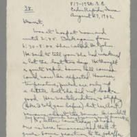1942-08-27 Laura Davis to Lloyd Davis Page 1