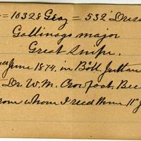Clinton Mellen Jones, egg card # 507