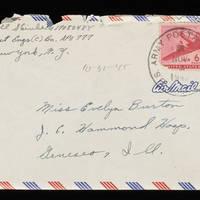 1945-10-31 Carroll Steinbeck to Evelyn Burton - Envelope