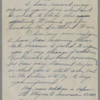 1945-10-09 Lt. Wayne A. Simmerman to Dave Elder Page 1