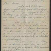 1945-05-12 Lt. Col. W.G. Eldridge to Dave Elder