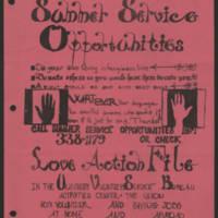 Summer Service Opportunities