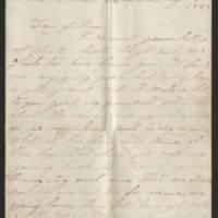 1862-08-14 Charles A. Gates to Mr. Arad Gates Page 1