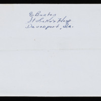1946-01-25 Evelyn Burton to Carroll Steinbeck - Envelope back