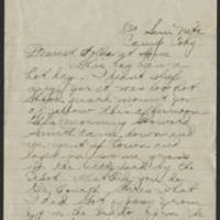 1918-07-07 Thomas Messenger to Mr. N.H. Messenger Page 1