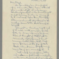 1941-10-17 Laura Davis to Lloyd Davis Page 1
