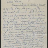 1945-02-13 Samuel C. Simmering to Dave Elder Page 1