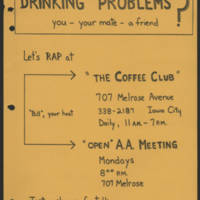 Drinking Problems?