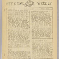 F.F.F. News Weekly, v. 1, issue 7, December 7, 1940