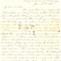 Laura Gibson's correspondence to her mother, June-August 1863