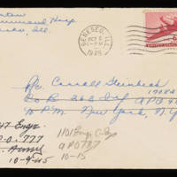 1945-09-30 Evelyn Burton to Carroll Steinbeck - Envelope