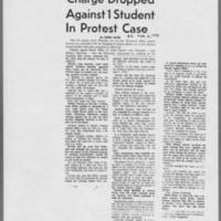 "1970-02-06 Daily Iowan Article: """"Charge Dropped Against 1 Student In Pritest Case"""""