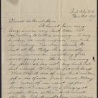 1918-01-27 Thomas Messenger to Mr. & Mrs. N.H. Messenger Page 1