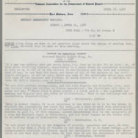 1968-04-18 Newsletter, Fort Madison Branch of the NAACP Page 1
