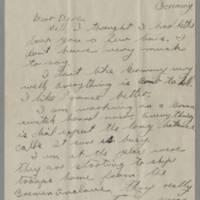 1945-12-08 Pfc. Tom Tanner to Dave Elder Page 1