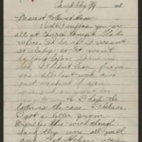 1918-03-09 Thomas Messenger to Mr. & Mrs. N.H. Messenger Page 1