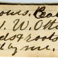 Clinton Mellen Jones, egg card # 615