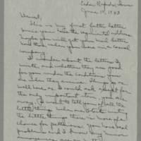 1943-06-10 Laura Davis to Lloyd Davis Page 1