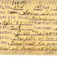 C W Nelson, egg card # cwn003u